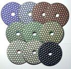 "Premium Dry 4"" inch 100mm Diamond Polishing Pads Professional Quality 30#-Buff"