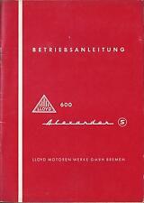 600 Lloyd Alexander S Manuale di istruzioni manuale d'uso manuale bordo libro BA