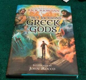 2014 PERCY JACKSON'S GREEK GODS Rick Riordan Illustrated John Rocco 1st Ed HC
