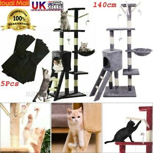 Large Cat Kitten Tree Scratch Post Bed Multi Level Activity Climbing Tower 1.2m
