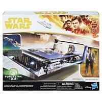 STAR WARS FORCE LINK 2.0 HAN SOLO LANDSPEEDER HASBRO FIGURE PLAY SET