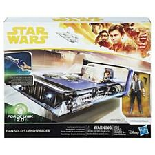 STAR WARS FORCE LINK 2.0 HAN SOLO LANDSPEEDER HASBRO FIGURE PLAY SET