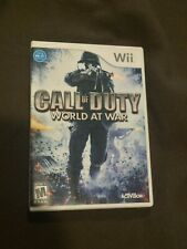 Nintendo Wii Video Game Call of Duty World at War Rated M