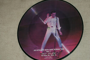 GARY NUMAN * AN INTERVIEW WITH GARY NUMAN * PICTURE DISC - PART 1* VINYL RECORD