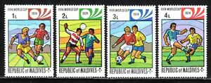 1974  Maldives SC# 516-519 - Soccer And Games - 4 Different Stamps - M-H
