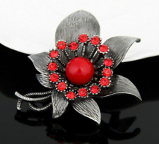 Women Flower Brooches Exquisite Crystal Unique Plant Brooch Jewelry Accessories
