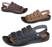 Mens Sandals Casual Beach Walking Beach Slipper Leather Fashion Flip Flop Size