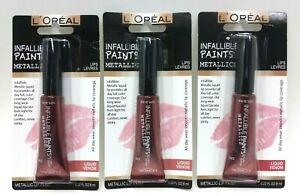 (LOT 3) L'Oréal Paris Infallible PAINTS/LIPS LIQUID VEMON BRAND NEW SEALED TUBES