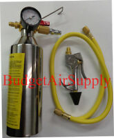 HVAC Flush Kit ,EZ Squeeze TRIGGER Handle,Hoses and Mixing can w PRESSURE GAUGE