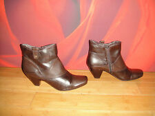 SUPERB CARAVELLE BROWN LEATHER  ANKLE BOOTS  UK 8 EU 41.5 *41*