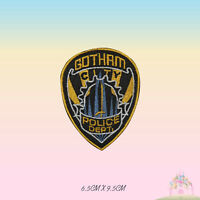 Gotham Police Dept Logo Super Hero Movie Embroidered Iron On Sew On Patch Badge