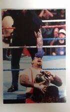 "WWF-Combat Live 6""X4"" CARTE POSTALE Undertaker Vs King Kong Bundy 1995 WWE"