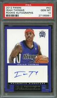 2012-13 panini rookie autographs #40 ISAIAH THOMAS rookie card (POP 1) PSA 10