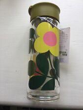Orla Kiely Flower Stem Glass Travel Bottle BNWT