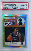 2018 Panini NBA Hoops Class of Holo Jaren Jackson Jr Rookie RC #4, PSA 10, Pop 2