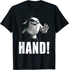 Suicide Squad King Shark Hand Funny Vintage Distressed Effect Black T-Shirt