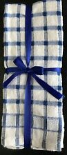 Large Kitchen Cloth 3 Pack tea Towels Check Design 100% Cotton Dish Cloth