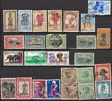 26 zegels BELGISCH CONGO, 26 timbres Congo Belge, 26 stamps Belg Congo (BCON 12)