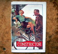 CONSTRICTOR CYCLE CATALOGUE vintage 1937.Original