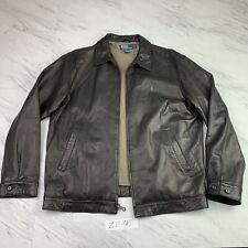 Vintage Polo Ralph Lauren Genuine Leather Jacket  Men's (Medium) Brown Z11-40