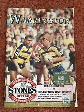 More details for warrington v bradford northern matchday programme 03.02.1991