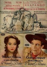 Programa PUBLICITARIO de CINE: EL VAQUERO y la DAMA.