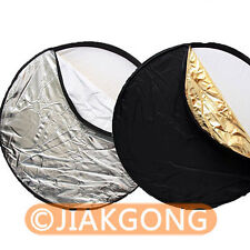"""80cm 32"""" 5-in-1 Light Mulit Collapsible disc Reflector"""