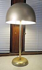 Vtg Mid Century Modern Art Deco metal aluminum mushroom shade table lamp