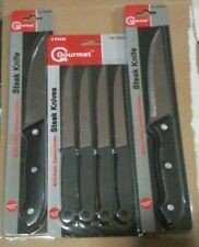 KITCHEN ESSENTIALS Gourmet 4-Pc Steak Knives & 2 Larger Stainless Steel (NEW)