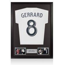 Framed Steven Gerrard Signed Adidas Shirt Number 8 - Career Celebration Edition