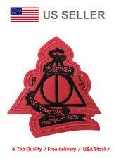 Deathly hallows Iron On / Sew On Patches Master of death harry potter Embroidery