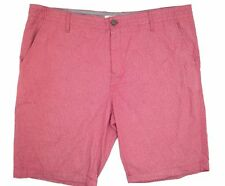 """$125 Calvin Klein Men'S Pink Classic Fit Flat Front 9""""In Casual Shorts Size 40"""