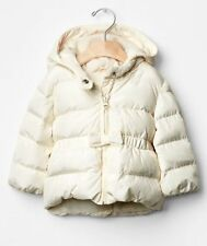 GAP Baby / Toddler Girl Size 18-24 Months Ivory Peplum Warmest Puffer Coat w/Bow