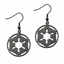Star Wars Imperial Symbol Black Dangle Earrings