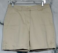 "PENMANS Tan Buff Khakis Chinos Short 10 Stretch Cotton Four Pockets 6"" Inseam"