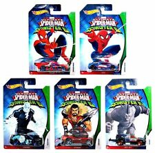 Ultimate Spiderman VS The Sinister 6 ~ 2016 Hot Wheels 5 Car Set! VERY NICE! F1