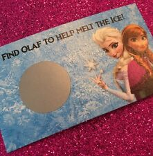 16 Frozen Scratch Off Cards Birthday Party Game - Elsa, Anna and Olaf