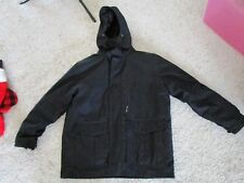 London Fog Coat with Zip off Hood and Lining - XXL - Black - Faux Fur Collar