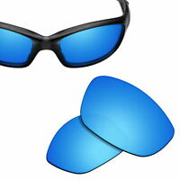 Polarized Replacement Lenses for-OAKLEY Straight Jacket 2007 Sunglasses Ice Blue