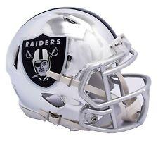 NFL Oakland Raiders Chrome Alternate Speed Mini Helmet Unisex Fanatics