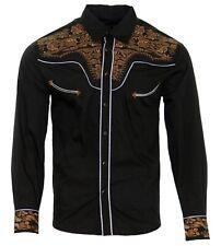 Cowboy Shirt Camisa Vaquera Western Wear El Señor de los Cielos Black/Brown