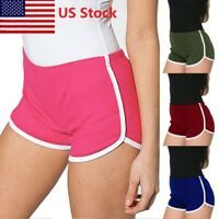 Summer Ladies Sports Shorts Casual Beach Running Gym Yoga Women Hot Pants US STO