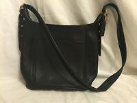 Coach Black Leather Legacy Slim Bucket Duffle Crossbody Bag 9816 Made In USA EUC