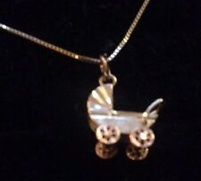 14K Baby Buggy Charm A15