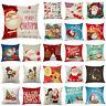 "18"" Cojines Christmas Pillow Case Home Decor Ornament Waist Throw Cushion Cover"