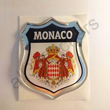 Aufkleber Wappen Monaco 3D Kfz-Aufkleber Monaco Emblem Motorrad Auto Domed Resin