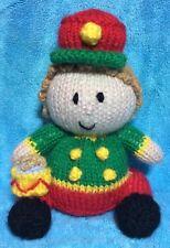 Knitting Pattern-Little Drummer Boy Arancione Copertura/16cms giocattolo Soldato Natale