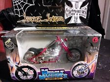 "New West Coast Choppers Jesse James ""Cherry CFL"" Bike 1:18 Scale Red"