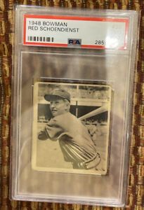 PSA 3 - 1948 Bowman # 38 Red Schoendienst Rookie RC HOF St. Louis Cardinals
