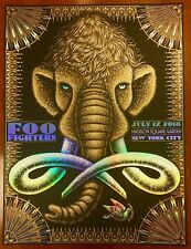 FOO FIGHTERS CONCRETE & GOLD MSG NYC 7/17 TODD SLATER FOIL POSTER 35/40 HTF!!!